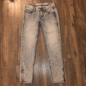 Madewell Acid Wash Skinny Jeans Size 24 EUC